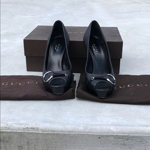 Black Gucci heels